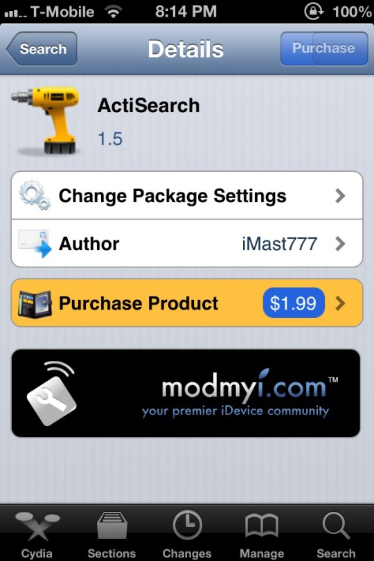 ActiSearch Tweak ModMyi-ijailbreak