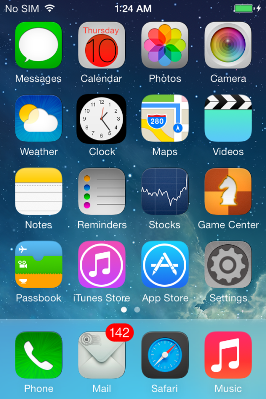 iOS 7 WinterBoard Screenshot