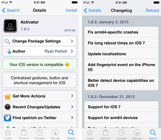 Activator-Cydia-Tweak