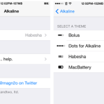 Alkaline Cydia Tweak: Theme iOS 7 Battery Icon Without WinterBoard