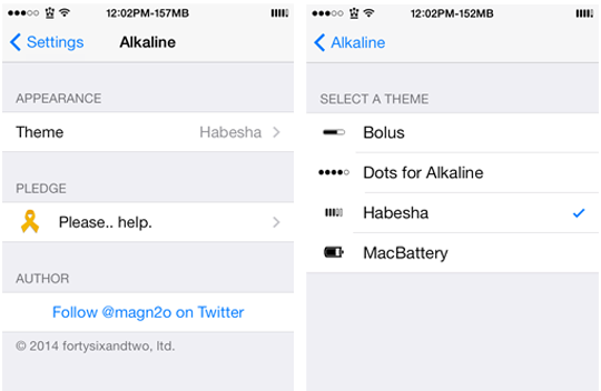Alkaline Cydia Tweak Settings