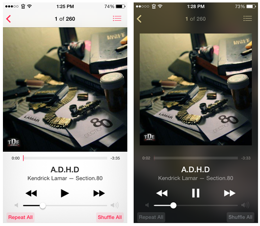 BlurredMusicApp Cydia Tweak
