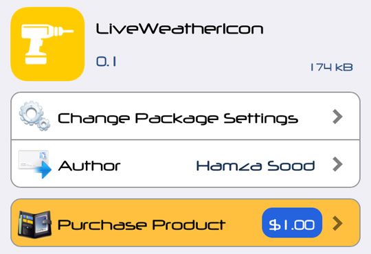 LiveWeatherIcon Cydia Tweak