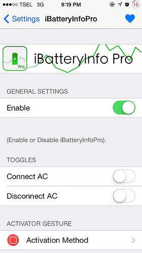 iBatteryInfoPro Cydia Tweak