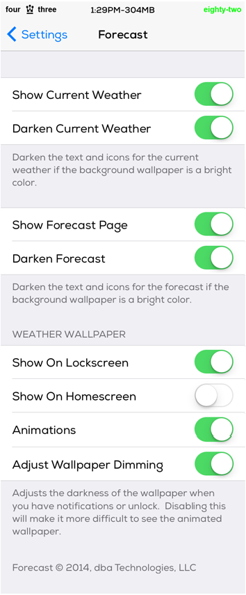 Forecast Settings Cydia Tweak