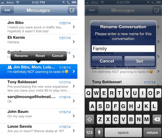 MessageRenamer7 Cydia Tweak