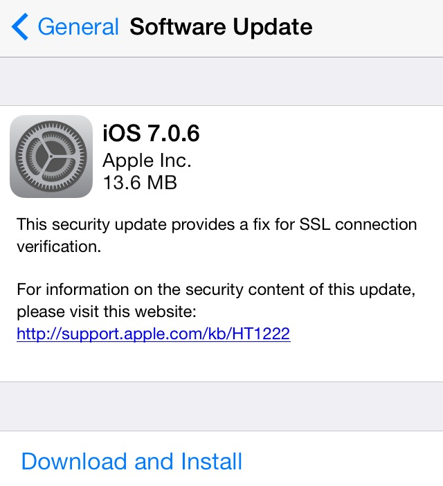 Download iOS 7.0.6 Firmware