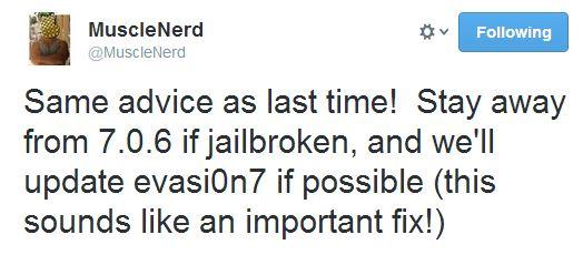 musclenerd iOS 7.1.6 jailbreak warning
