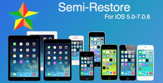Semi-Restore7 iOS 7
