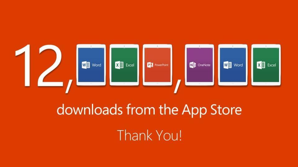 Office-for-iPad-12M-downloads