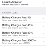 Ryan Petrich's Activator Tweak To Get New Battery Percentage Actions