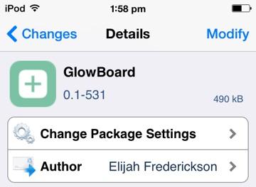 GlowBoard-Cydia