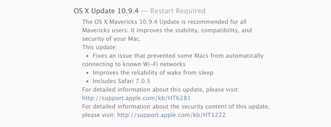 os x 10.9.4-update