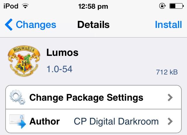 Lumos Cydia Tweak Adds A Torch Shortcut To Your Lockscreen