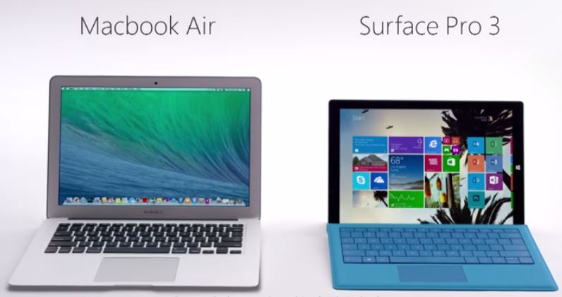 Microsoft Makes Fun Of The MacBook Air In New Surface Pro 3 Ads ...