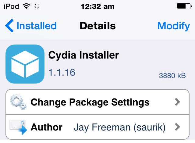 Cydia 1.1.16