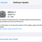 iOS 8.1.1 Released, Includes Bug Fixes And Performance Improvements For iPhone 4s And iPad 2