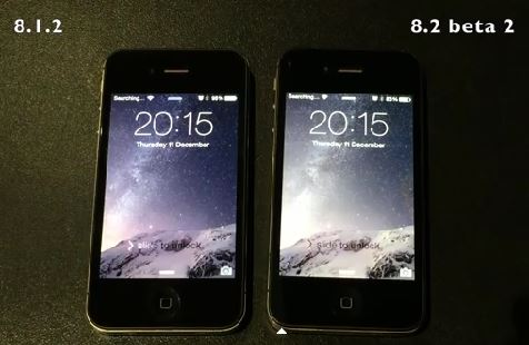 ios 8.1.2 vs ios 8.2 beta 2