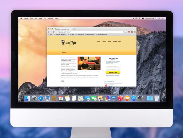 MacDojo 'Yosemite OS X Productivity' Course stacksocial