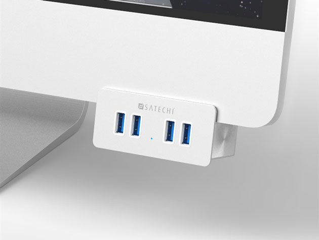 Premium Aluminum 4-Port USB Clamp Hub StackSocial