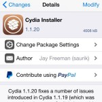 Cydia Installer 1.1.20 Released, Includes Bug Fixes