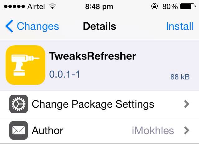 Tweaksrefresher