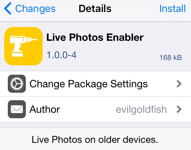live photos enabler