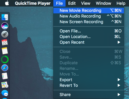 QuickTime Player - New Movie