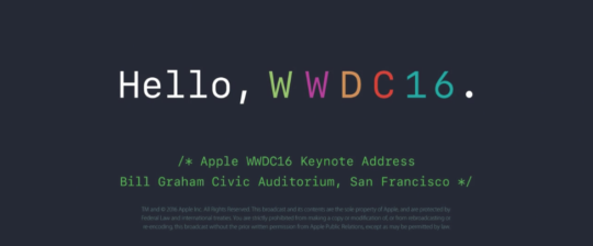 hello-wwdc16-apple