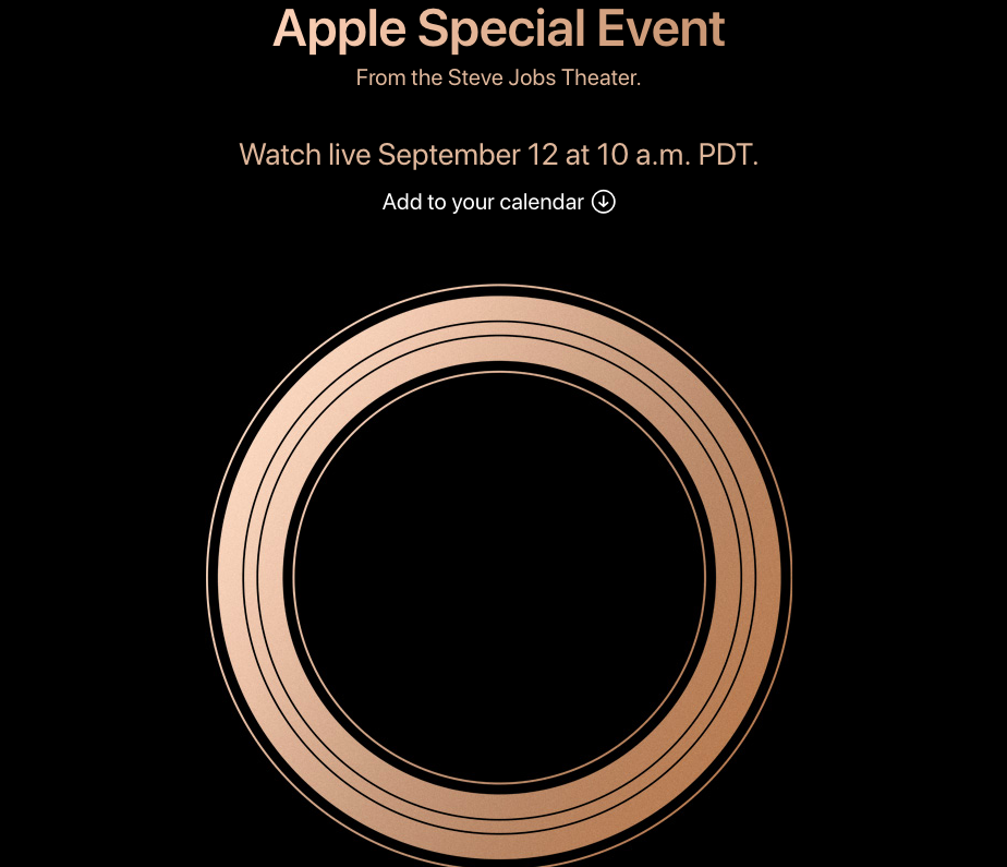 2018 apple iPhone event