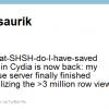 Saurik`s Tweet of SHSH and ECID Grabber back and operational