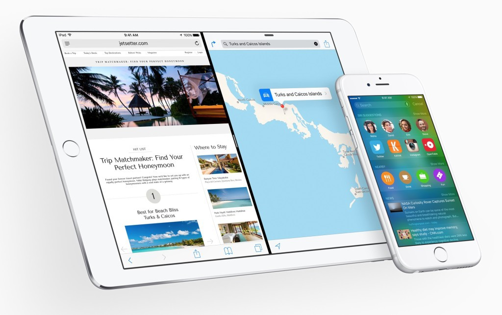 iOS 9 for iPad and iPhone